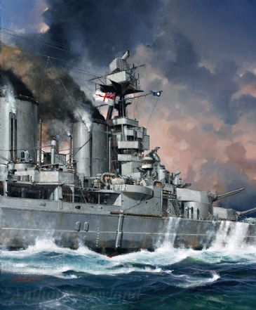 HMS Hood (original oil painting)